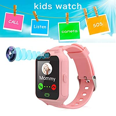 New Sign Kids Smart Watch Phone for Girls Boys with Pedometer Fitness Tracker Touch Camera Games Flashlight Anti Lost Alarm Clock Holiday Birthday Gifts (Pink) by New Sign