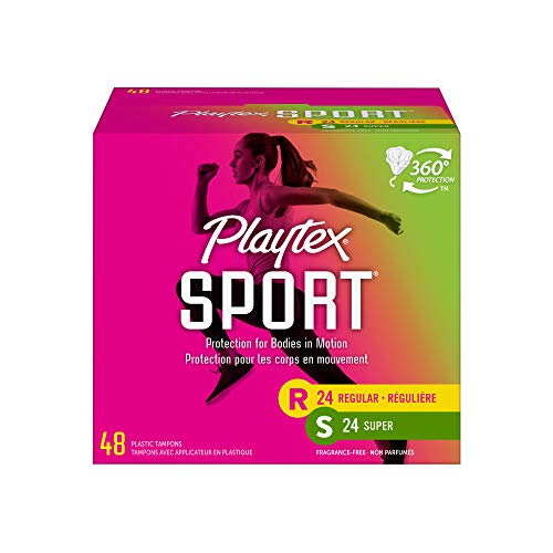Playtex Playtex Sport Tampons Multipack Regular and Super Absorbency Unscented 48 Count Pack of 1 48 Count Pack of 1 48 Count