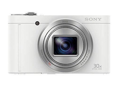"Sony Cyber-Shot DSC-WX500 - Cámara compacta de 18 Mp (pantalla de 3"", zoom óptico 30x, sensor Exmor R, pantalla para selfies, Wi-fi / NFC), blanco"