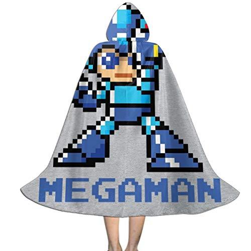 KUKHKU Megaman Pixel - Capa con Capucha para nios, Unisex, para Halloween, Navidad, Fiestas, Disfraces de Cosplay