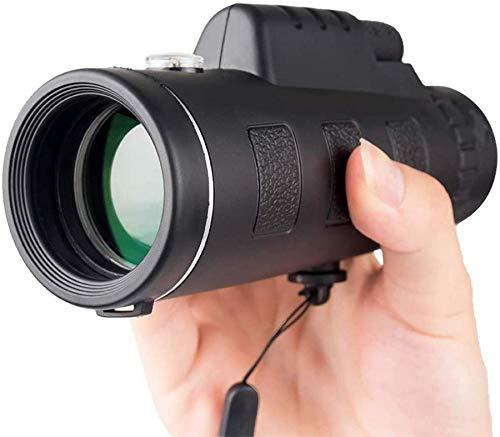 Binoculares, telescopio monocular, prisma impermeable a prueba de niebla, telescopio monocular con zoom, lente de vidrio óptico revestido totalmente versátil + clip para teléfono + trípode Deportes al