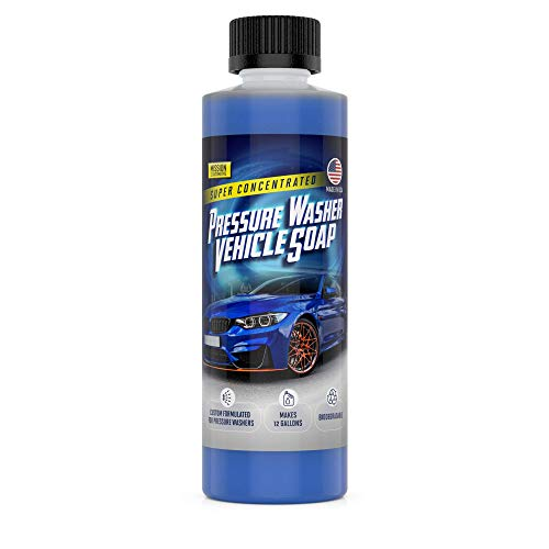Mission Automotive Wash Concentrated Pressure Washer Car Wash Soap for Vehicle Cleaning Makes 12 Gallons Made in the USA for Pressure Washers