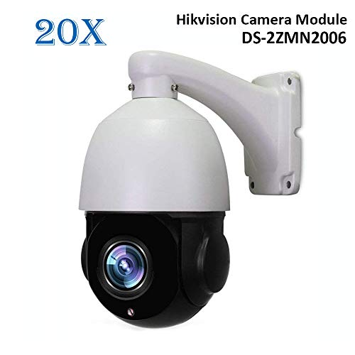 LEFTEK 960P 20X Zoom óptico PoE PTZ Dome Cámara IP CCTV para Exteriores Cámara de Seguridad Hikvision DS-2ZMN2006