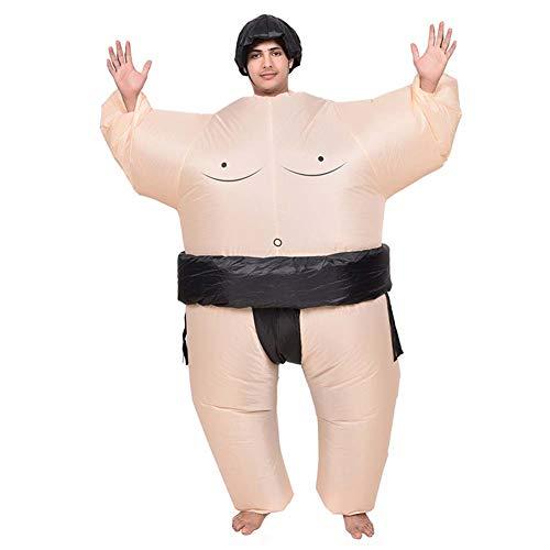 EEELITE Aufblasbares Kostum Fatsuit Sumo Ringer Fancy Dress Cosplay Outfit Anzüge und Kostüme Festival Party Park,Adult