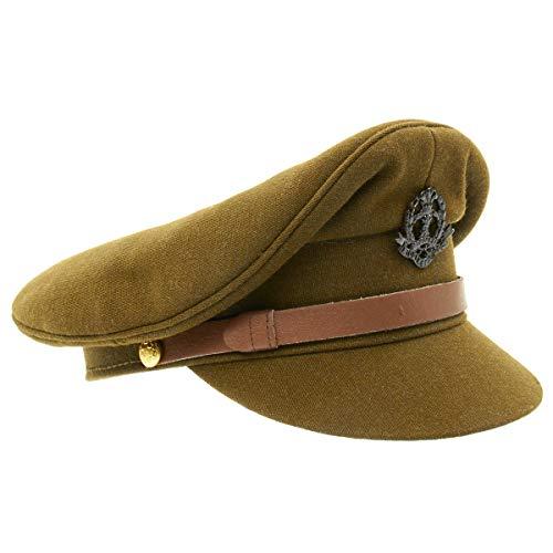 British WWII Officer Peaked Visor Cap- Size US 7.5 (60cm)