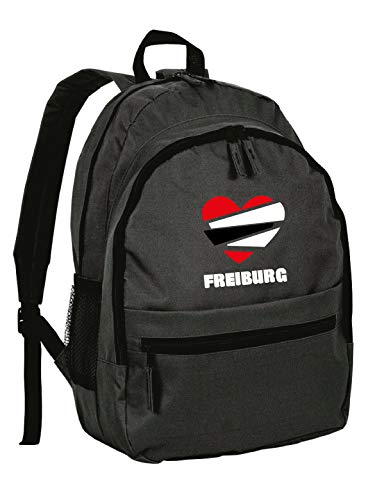 Freiburg Rucksack in Einheitsgröße aus Synthetik mit Reißverschlusstaschen und Trägern