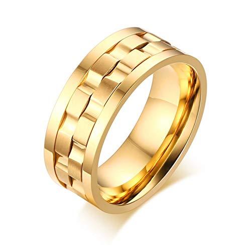 ERDING Fashion Cadeau/Spike Ringen voor Heren Draaibare Wedding & Engagement Ringen