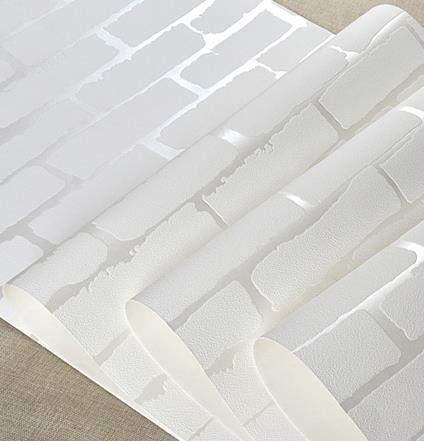 BLOUR Dicke Vlies Tapete 3D Stereo einfache weiße Ziegel Muster Ziegel warmen Schlafsaal Schlafzimmer Wohnzimmer TV Hintergrund Aufkleber