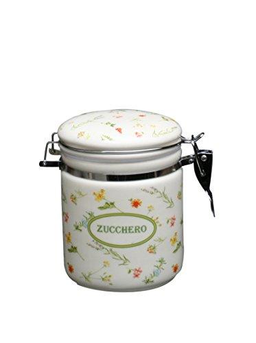 TOGNANA Zuckerdose Dolce Casa Floreal, 500 ml., aus Keramik mit Blütendekor und Bügelverschluss