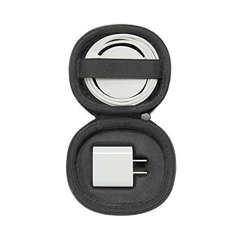 Bright Funda para iPhone 12/12 Pro Apple MagSafe Charger, caja protectora de viaje con mosquetón para Apple 45W/61W adaptador de corriente y cargador MagSafe