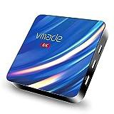 Android TV Box, Vmade T1 Pro Android 10.0 TV Box, 4 GB RAM 32 GB ROM, H616 Quad-core 64bits ARM Cortex-A53 @ hasta 1,5 GHz Soporta 2.4G 5G Dual WiFi / 6K / BT 5.0 / H 265 Smart TV Box