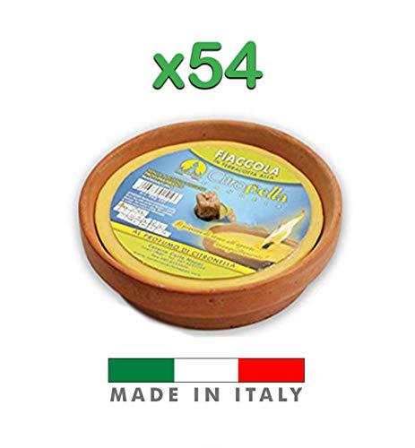 Palucart Candela citronella Candele per Esterno in coccio di Terracotta 11 cm Set da 54 Pezzi Giardinaggio antizanzare Feste ed Eventi