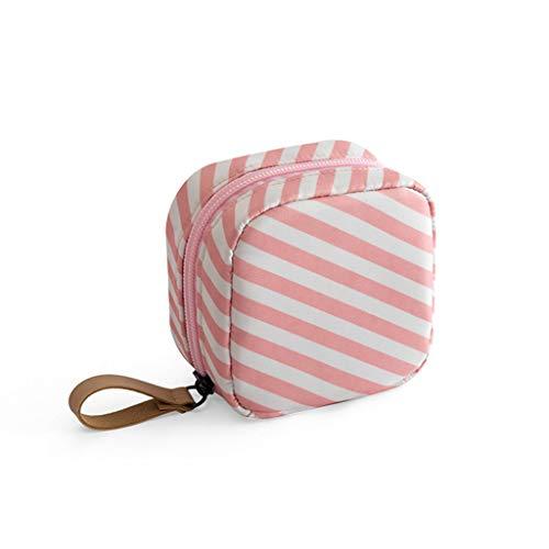 MHDGGNeceser de viaje para maquillaje, cosméticos, bolsa de aseo organizadora, bolso de viaje, accesorios de viaje, rosado, (mini Pink), 1.00[set de ]