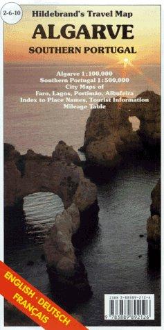 Hildebrand's Travel Map: Algarve (Europe)