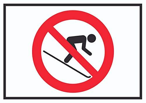 HB-Druck Ski Fahren verboten! Symbol Schild A0 Rückseite selbstklebend