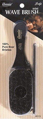 Annie mini pocket small manclub combo brush #2113 - SOFT-, soft bristles, natural bristles, boar bristles, hair comb, hair brush, long hair, short hair,