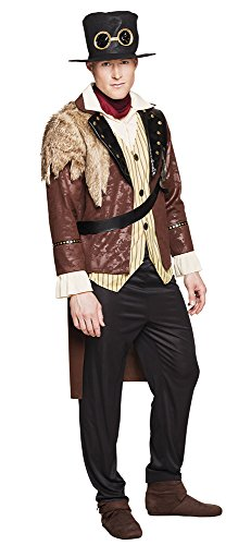 Mens Male Captain Steampunk Costume for Commander General Commadore Cowboy Wild West Fancy Dress XL 44/46 Costumes Wild West Deluxe Costume Brand New