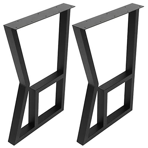 Tafelpoot, bureaupoot, moderne stijl DIY ijzeren salontafelpoot Tafel vervangende onderdelen Meubelaccessoires Tafelaccessoires(Zwart)