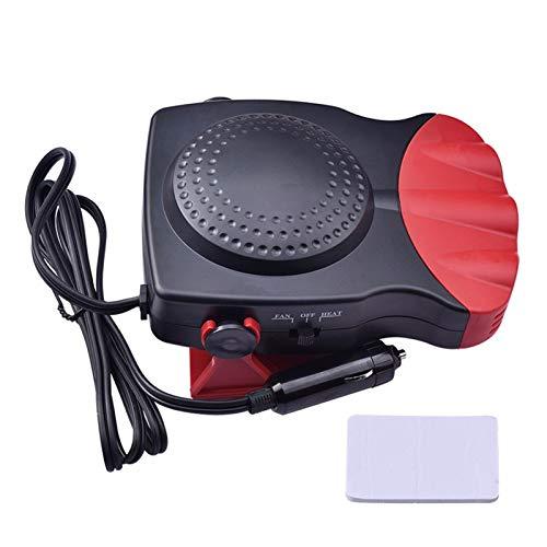 CHENJIAO Auto-Heizung 12V Auto-Heizung Luftkühler Ventilator 2 In 1 Elektroheizung Wäschetrockner Demister Defroster 3-Outlet Warm Tragbare Heizung Ventilator (Color Name : Red)