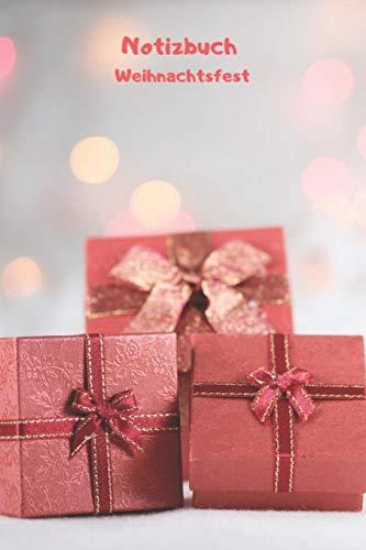 Notizbuch Weihnachtsfest: Weihnachtliches Tagebuch, Notizbuch mit Jahresübersicht 2020 für Schule, Hobby und Freizeit.
