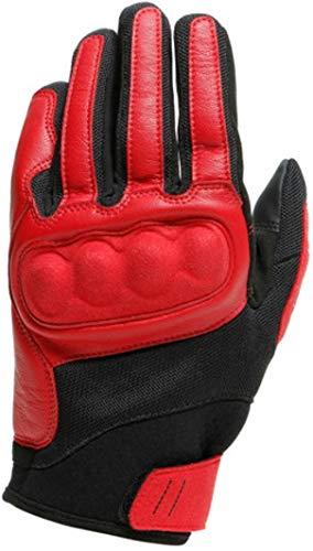 DAINESE Sabha Gloves, Guanti Moto stile Vintage Rétro, pompeian-red/tap-shoe, m