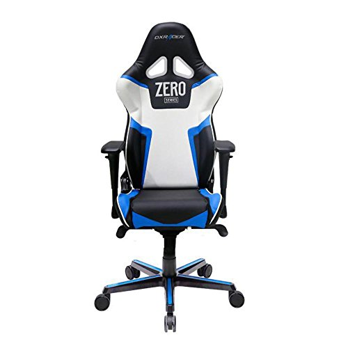 DXRacer OH/RV118/NBW/ZERO Black & Blue & White Racing Series Gaming Chair...