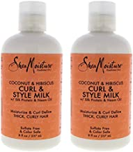 Shea Moisture Coconut & Hibiscus Curl & Style Milk Pack Of 2, 8 Oz