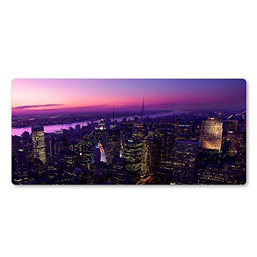 Mouse pad Mouse Mat in The Sununder The City Mouse Padprofessional Gamer Players Mouse Desk Mats to The Computer Game Mousepad Landscape Computer mat
