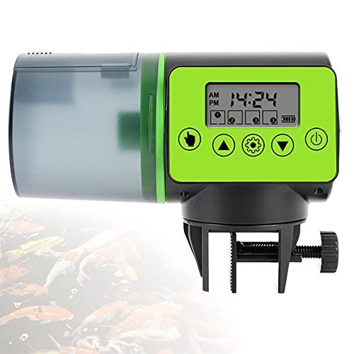 EFGS 200ml Mini Dosificador Comida Tortugas, Alimentador Automatico Acuario con Cronometraje Digital, Ruido Bajo, Comedero Peces para Vacaciones y Fines de Semana