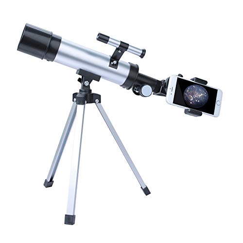 Telescope for Kids and Adults, 50mm Aperture Telescope with Tripod, Astronomical Refracting Telescope, Science Kits, Travel Telescope with 3 Magnification Eyepieces, Astronomy Beginners Gifts
