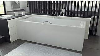 Azurra Home Design Veneto Bañera con delantal 140/150 x 70 y 160/170 x 75 – Dimensiones: 170 x 75
