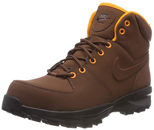 Nike Herren Manoa Leather Trekking-& Wanderstiefel,Braun (Fauna Brown/Orange Peel/Velvet Brown/Black 203), 42.5 EU