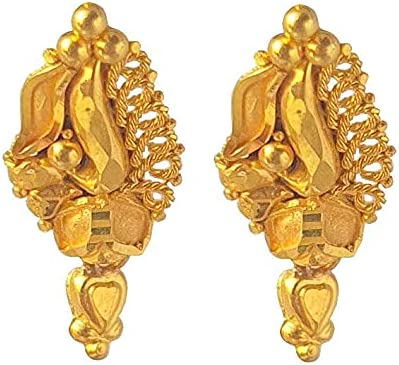 Certified Solid 22K/18K Yellow Fine Gold Hanging Heart Design Fish Hook Earrings Available In Both 22 Carat And 18 Carat Fine Gold, For Women,Girls,Kids,Gifts,Wedding,Engagement & Celebrations