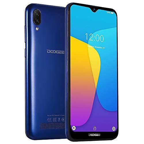 DOOGEE X90 smartphone zonder contract Goedkoop, 6.1 '' HD-scherm, Android 8.1 DUAL SIM 3G mobiele telefoon, Quad-Core 1GB + 16GB 128 GB uitbreidbaar, 8MP + 5MP dubbele camera, Face ID