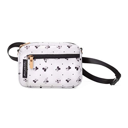 Petunia Pickle Bottom Adventurer Belt Bag for Women | Adventurer Belt Bag in Mickey Mouse | Wristlet, Crossbody Strap, Waist Belt Bag, Purse, Wallet | Versatile, Fashionable, Beige