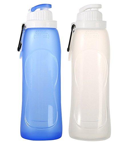 Yvon nelee silicona plegable Agua bidones Silicone Water Bottles para deporte Outdoor...