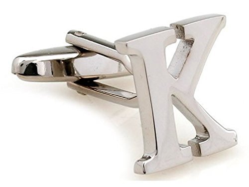 TEROON Cufflinks Lettre 'K' initial [Bouton - NON paire]
