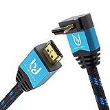 Ultra HDTV Premium – 2m 4K Cable HDMI 2.0b, 1x Adaptador de 90 Grados | 4K/60Hz (sin interferencias), HDR, 3D, ARC, Ethernet
