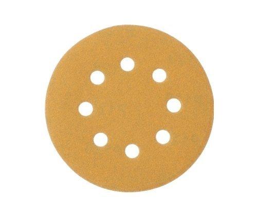 Mestool P_58 Gold 5-Inch 8-Hole P120 Grit Dustless Hook&Loop 100-pack (120)