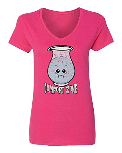 Allforenjoy Camiseta gráfica Cat in The Comfort Bottle Pet Meow Cute Funny Print Vneck