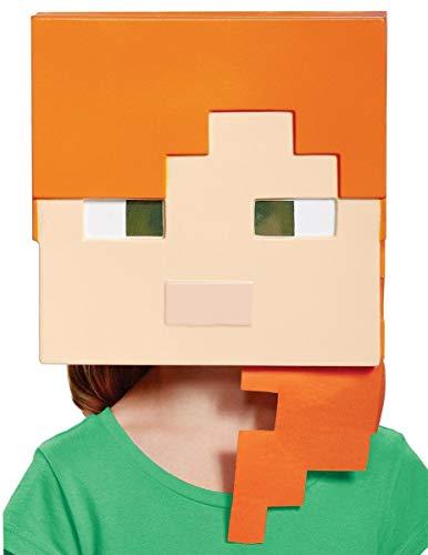 Disguise Alex Minecraft Child Mask Green, One Size