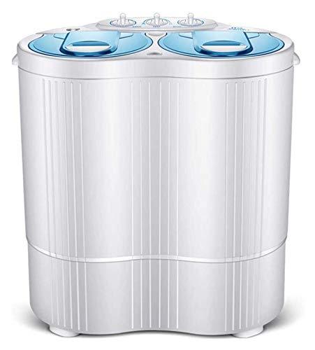 Doble Tina Lavadora portátiles ligeros total Capacidad de la lavadora secadora 6.6Kg vuelta for acampar Dorms apartamentos, 3,6 kg 3 kg de lavado en seco de la vuelta, Bajo, Rojo 1127 ( Color : Blue )