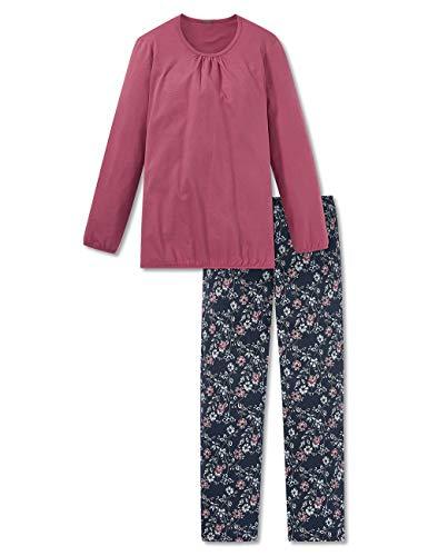 Schiesser Damen lang Zweiteiliger Schlafanzug, Rot (Beere 512), (Herstellergröße: 48)