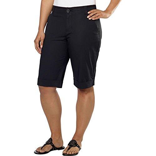 DKNY Jeans Women's Bermuda Walking Shorts (6, Black)