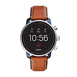 powerful Fossil Gen 4 Explorist HR Men's Smartwatch. The touch screen is made of stainless steel and leather …