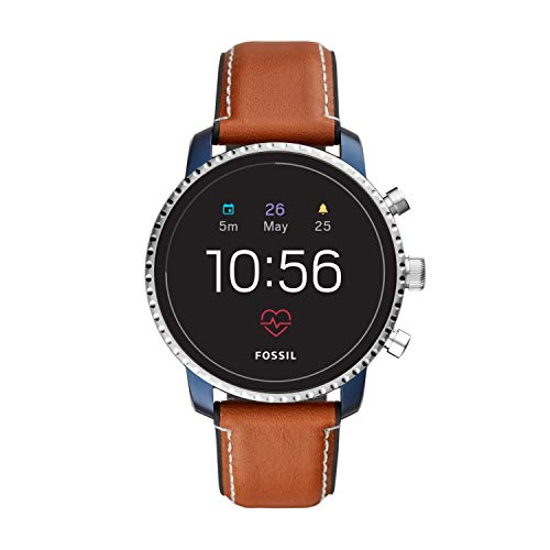 Fossil Men's Gen 4 Explorist HR Heart Rate Stainless Steel and Leather Touchscreen...
