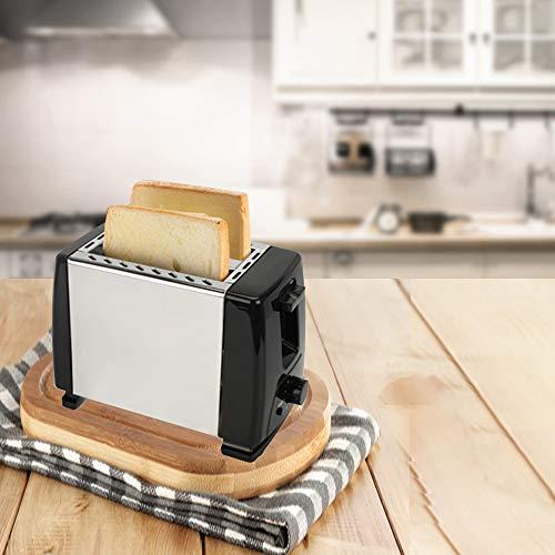 YHML 2 Scheiben Vollautomatischer Edelstahl-Haushalts-Toaster Einstellbare Sechsgang-Temperatur Zweireihiges Backen Frühstücksbrotmaschine