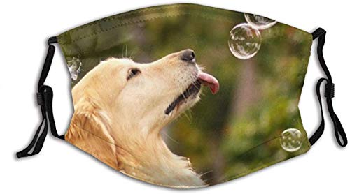 Face Mask Animals Bubbles Canines Dogs Funny Humor Rainbow Balaclava Unisex Reusable Windproof Mouth Bandanas Outdoor Camping Motorcycle Running Neck Gaiter Made in USA