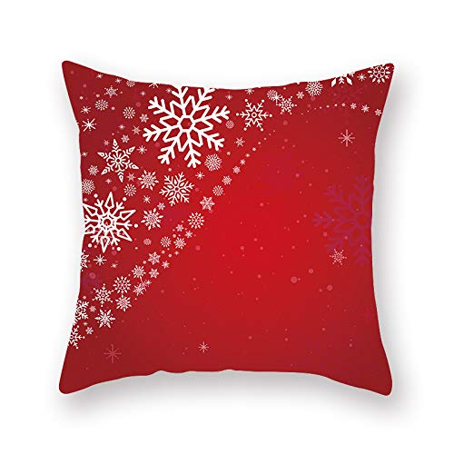 Xiaobyyao 2 Fodere Per Cuscino, Natale Rosso Casa 45 * 45 Cm 19XMAS9 (9),Fodere Scamosciate Per Cuscini Federe Geometriche Stampate Copricuscini Decorazione Per Divano Letto Casa Auto