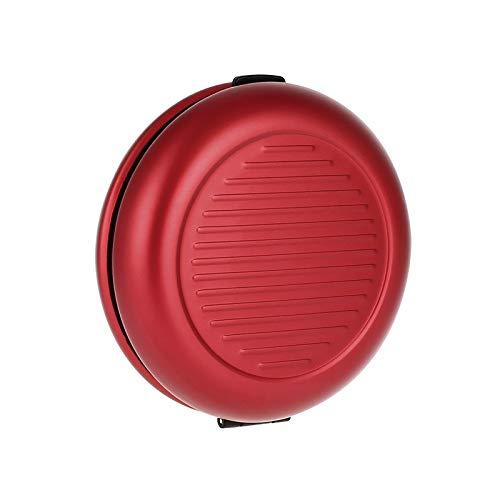 Ögon Smart Wallets - Porte-Monnaie Euro Monnayeur - Jusqu'à 20€ en Monnaie - 5 pièces par Compartiment - Aluminium anodisé (Rouge)